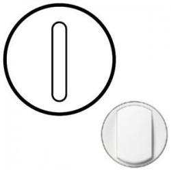 Лицьова панель вимикача 1-кл. безшумного, колір білий, Celiane, Legrand