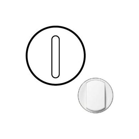 Лицевая панель механизма выключателя 1-кл. бесшумного, цвет белый, Celiane 68013