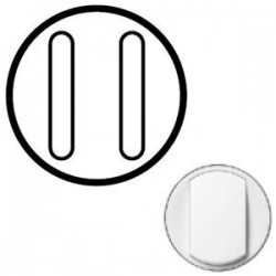 Лицьова панель вимикача 2-кл. безшумного, колір білий Celian, Legrand