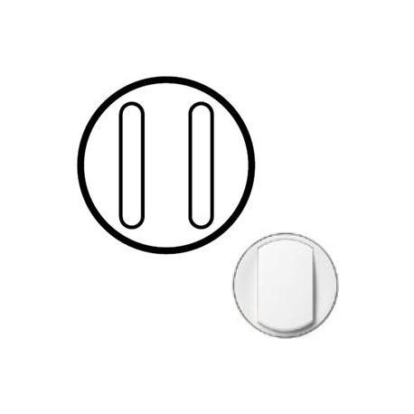 Лицевая панель механизма выключателя 2-кл. бесшумного, белый Celian