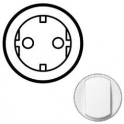 Лицьова панель розетки 2К + З, колір білий, Celiane, Legrand