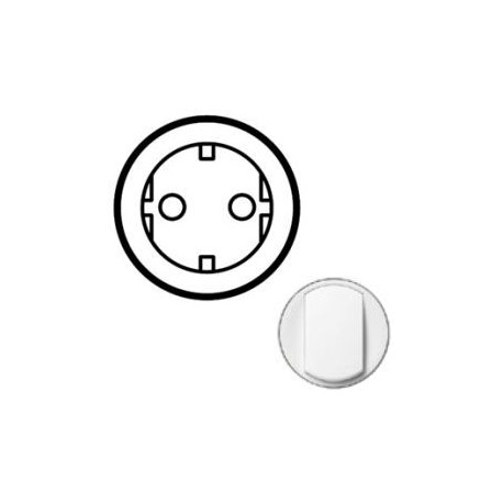 Лицевая панель механизма розетки 2К+З, цвет белый, Celiane 68130
