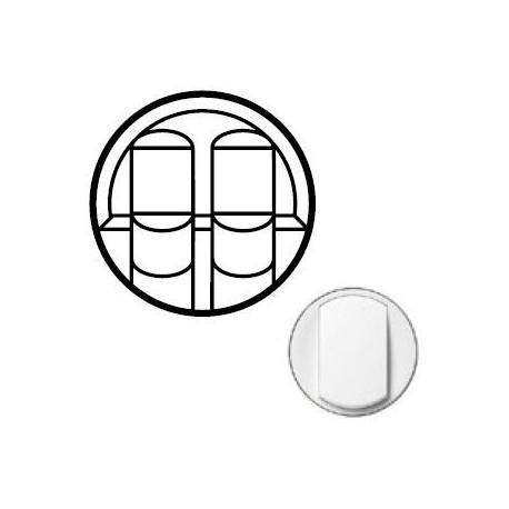 Лицьова панель розетки 2хRJ45, колір білий, Celiane, Legrand