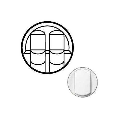 Лицевая панель механизма розетки 2хRJ45, цвет белый, Celiane 68252