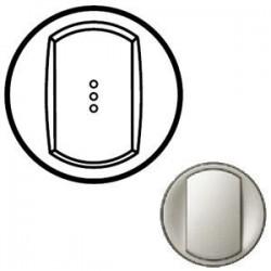 Лицевая панель механизма выключателя 1-кл. с подсветкой, цвет титан, Celiane 68303