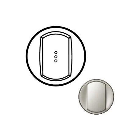 Лицевая панель механизма выключателя 1-кл. с подсветкой, титан, Celiane