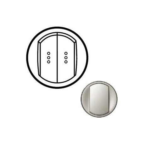 Лицевая панель механизма выключателя 2-кл. с подсветкой, цвет титан, Celiane 68304