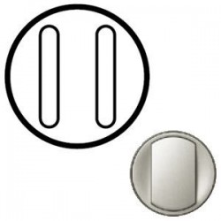 Лицевая панель механизма выключателя 2-кл. бесшумного, цвет титан Celiane 68318