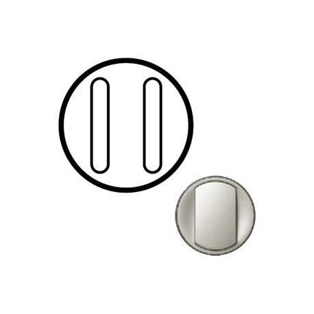 Лицьова панель вимикача 2-кл. безшумного, колір титан Celiane, Legrand
