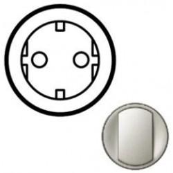 Лицевая панель механизма розетки 2К+З, цвет титан, Celiane 68430