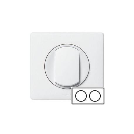 Рамка 2-ная, цвет белый, Celiane 66632