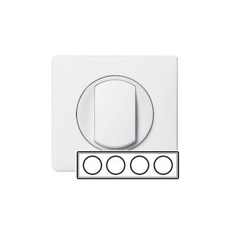Рамка 4-ная, цвет белый, Celiane 66634