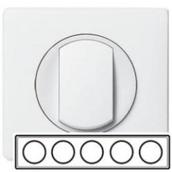 Рамка 5-ная, цвет белый, Celiane 66630