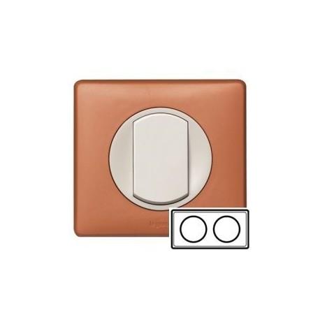 Рамка 2-ная, цвет корица, Celiane 68652
