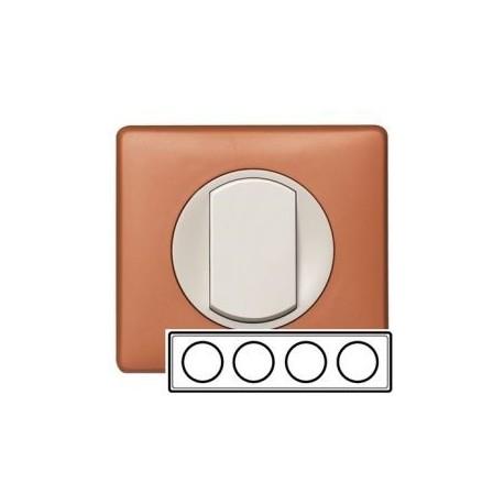 Рамка 4-ная, цвет корица, Celiane 68654