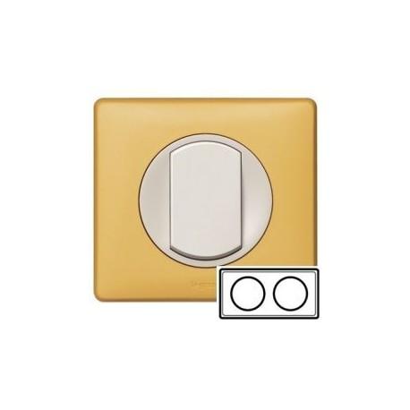 Рамка 2-ная, цвет шафран, Celiane 68672