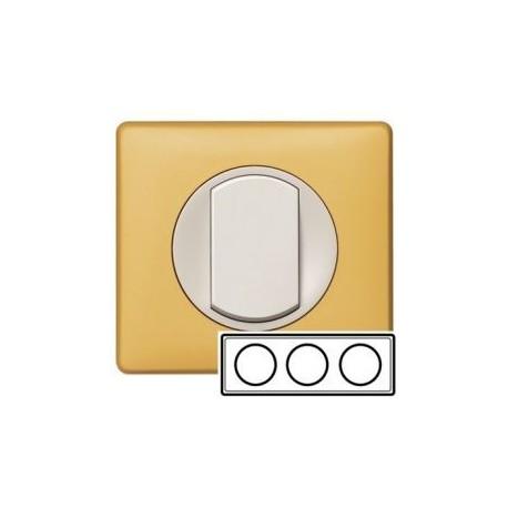 Рамка 3-ная, цвет шафран, Celiane 68673