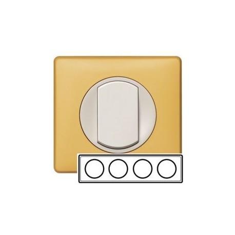 Рамка 4-ная, цвет шафран, Celiane 68674